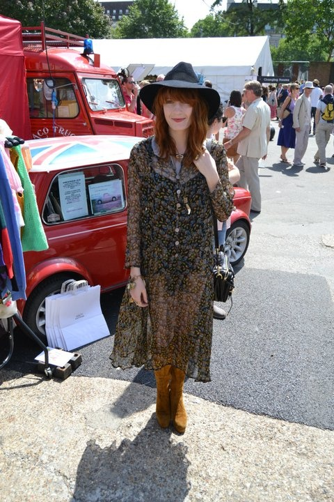 Florence Welch shopping the marketplace during Vintage at the South Bank