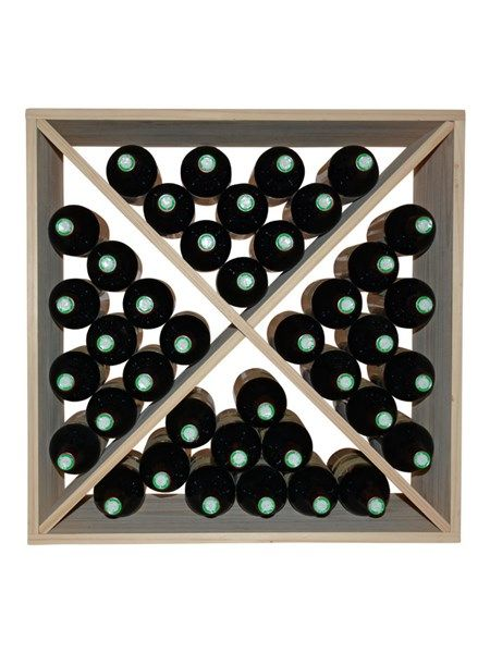 Square Vinreol ABRA i fyrretræ til 40 flasker