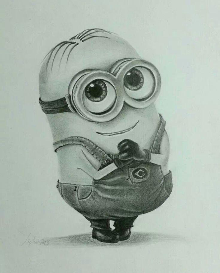 Pencil drawing minion