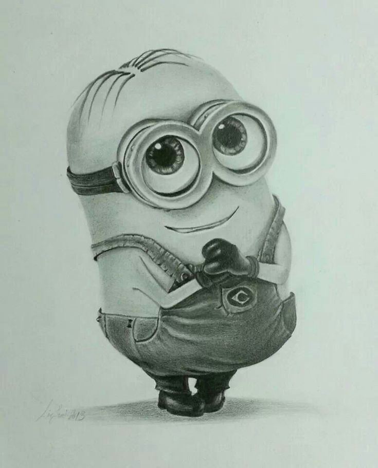 Pencil drawing minion.. sooo cute!! :D