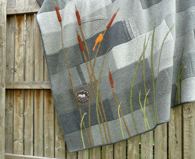 blankets, xmas stockings, fingerless mittens. Lovely design sense