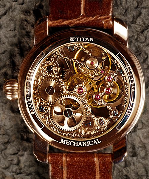 Titan Skeleton watch