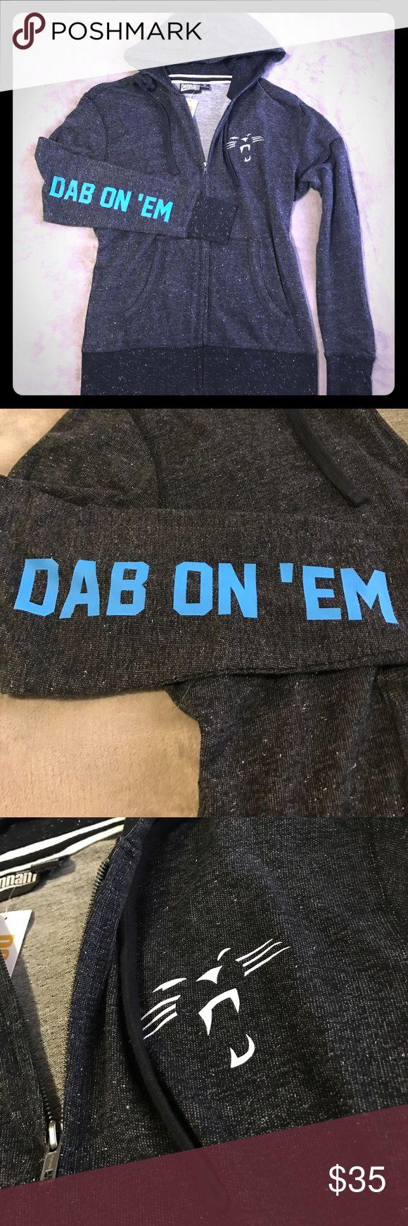 Carolina Panthers NFL Glitter Boutique ZipUp Hoodi Size XL - fits large Sweaters