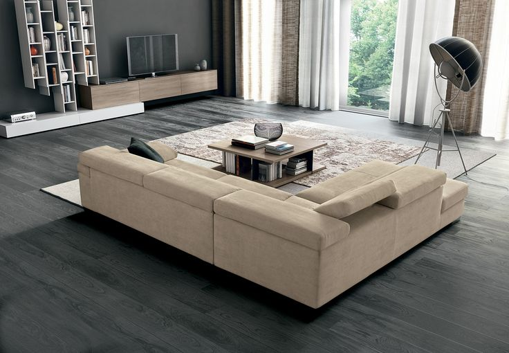 Fabulous Chocolate Couches in a serene room of neutrals