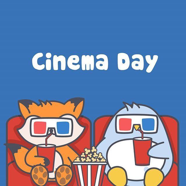 Piki & Fixi in Cinema Day    #Piki #pikithepenguin #cinema #cine #movies #ilovecinema #cute #kawaii #friends #3d #popcorn #penguins #fox #depelicula #3dglasses #cuddly #terror #instagram #instalike #instaframe #pusheen  #kakaofriends #line #linefriends #silence #film #cool #fun
