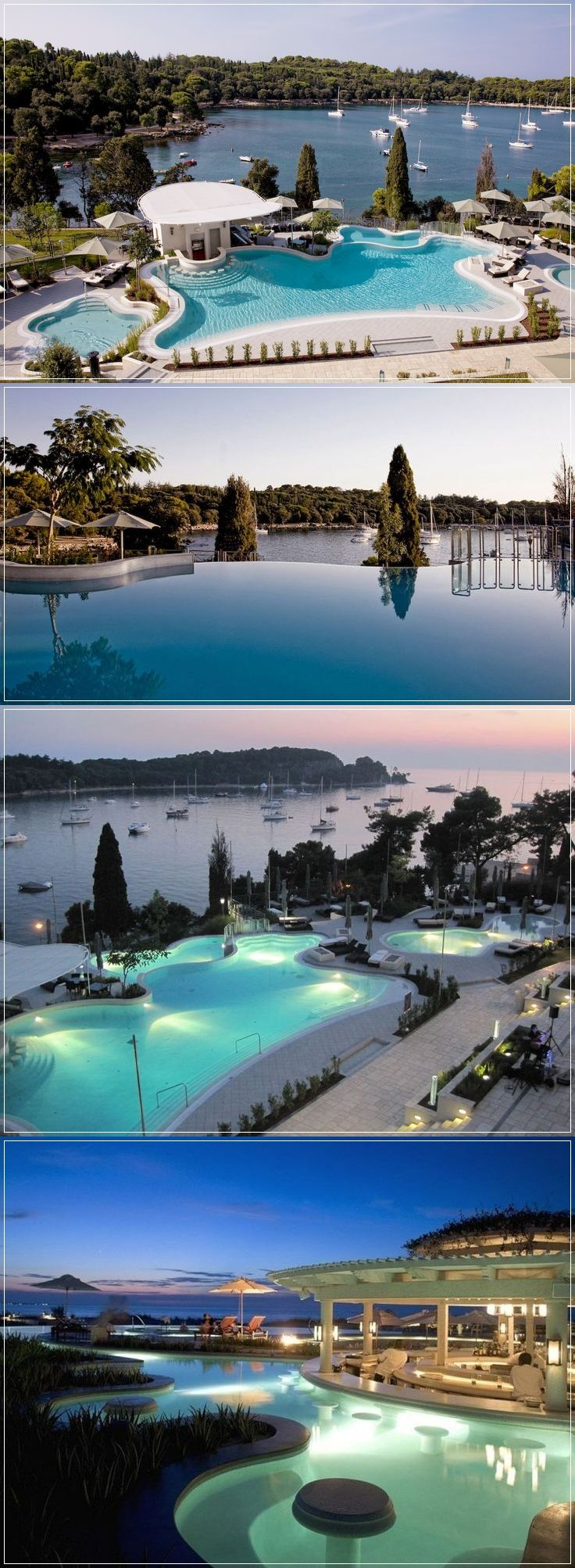 Hotel Monte Mulini, Rovinj, Croatia. To book online, please click the photo. #resort #hotel #vacation #honeymoon #travel #holiday #florence #toscana #italy #hotelroom #romantic #luxuryresort