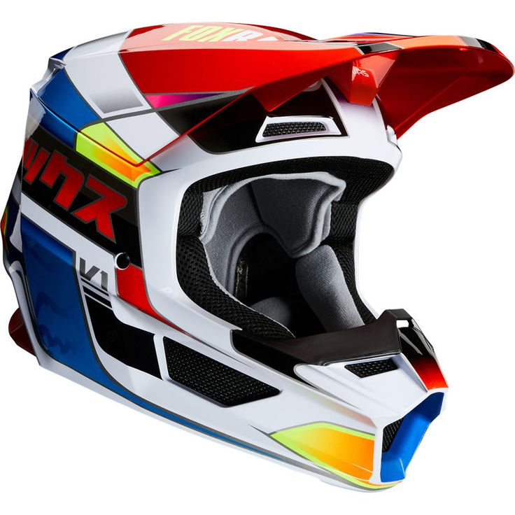 Fox racing v1 yorr helmet red/blue Red and blue, Fox