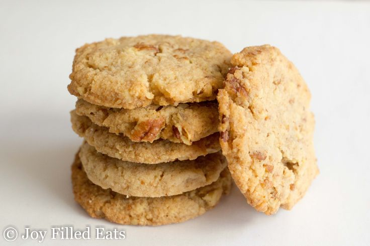 Butter Pecan Cookies - Low Carb, Grain/Sugar/Egg Free, THM S