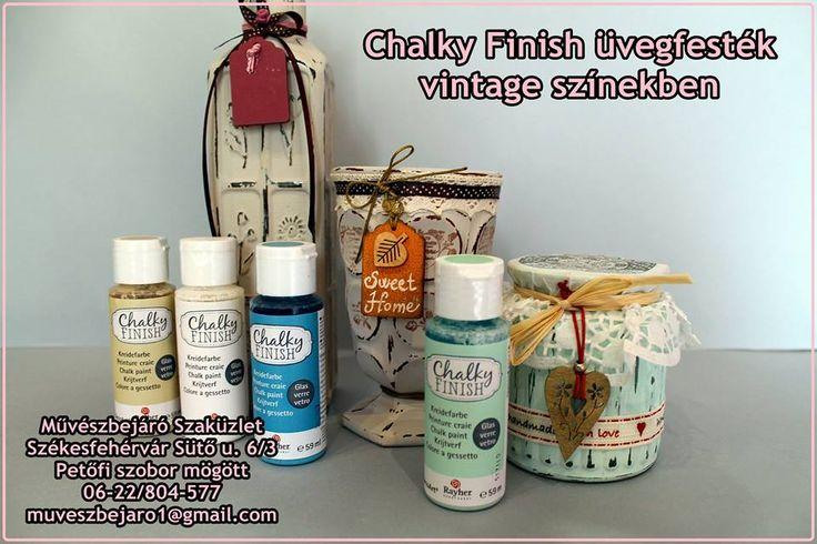 Chalky finish üvegfesték  Tökéletes vintage dísztárgyak készítésére :)  Chalky finish glass paint. It is perfecto to made creative gifts.   https://www.facebook.com/muveszbejaro/ http://muveszbejaro.uw.hu/