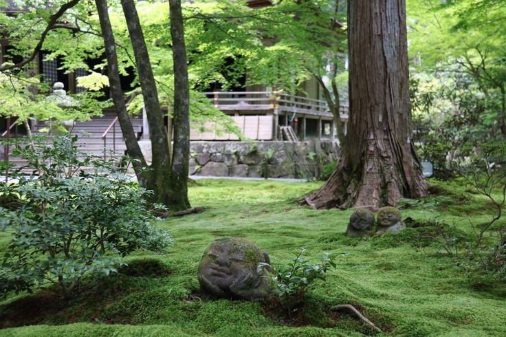 Jizos in the moss garden at Sanzen-in, Ohara, Japan.