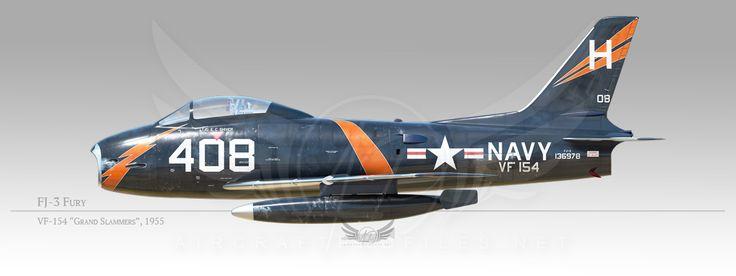 "FJ-3 Fury, VF-154 ""Black Knights"", 1955"