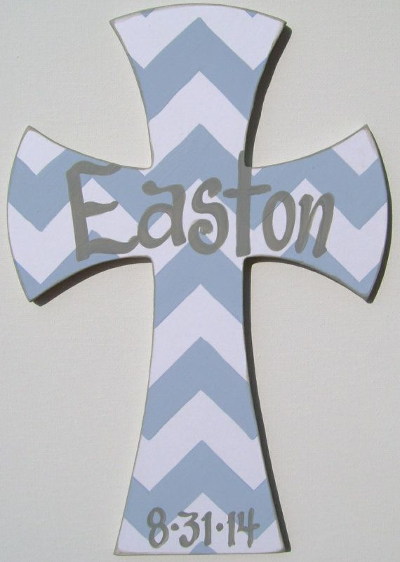 Hand painted personalized childs chevron painted by BellaLouart
