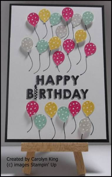 SU! Party Wishes stamp set; It's My Party Designer Series Paper (DSP); Party Punch Pack - Carolyn King