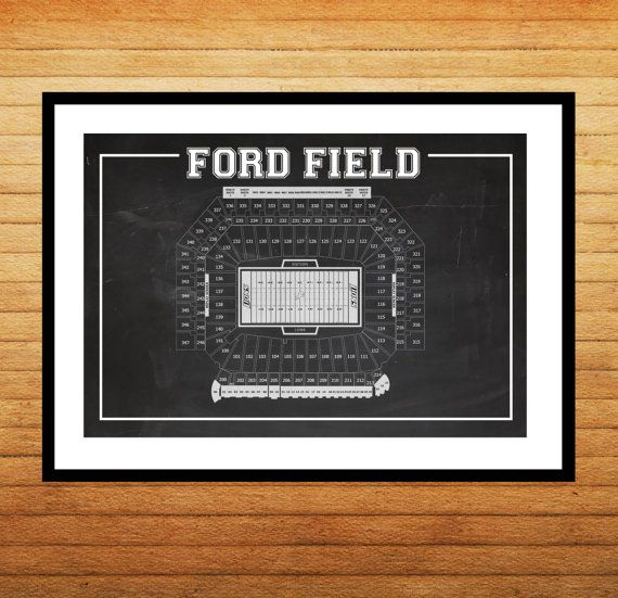 Ford Field Seating Chart Patent Print Ford Field Seating