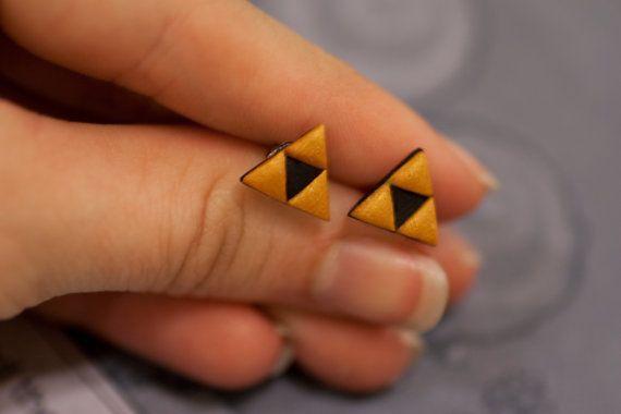 Zelda Triforce Earrings by lizglizz on Etsy