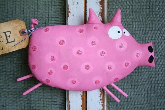PiG named Bacon RESERVED by buttuglee on Etsy