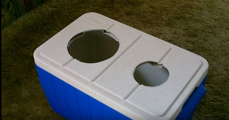 Man+Cuts+2+Holes+Into+The+Lid+Of+A+Giant+Cooler.+When+He+Adds+The+Finishing+Touches+–+WOW!