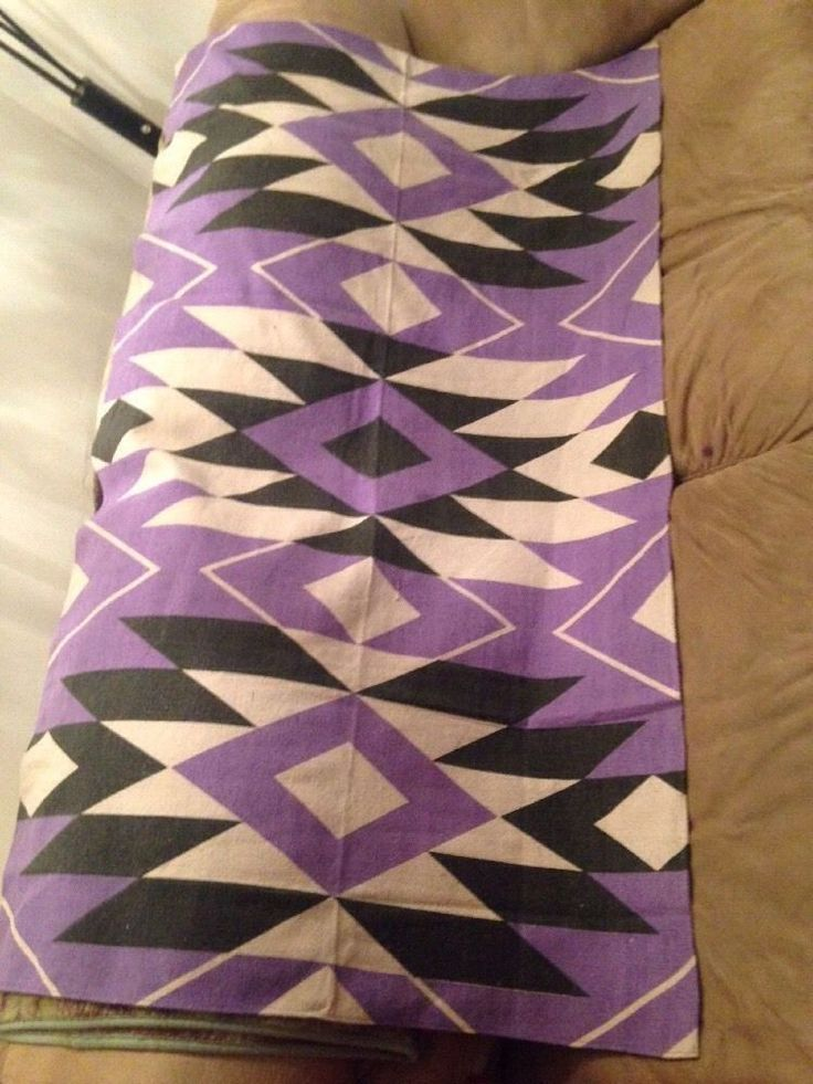 Area Rug 3 ft x 5ft Bright Purple,White & Black Colors 100% Cotton #Unbranded #Country