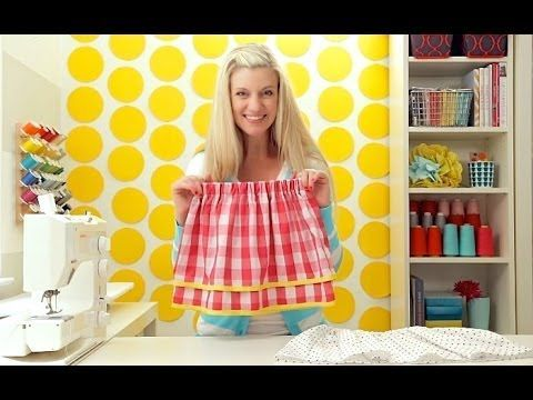 How to sew a Simple Skirt: a single layer AND a double layered skirt - YouTube