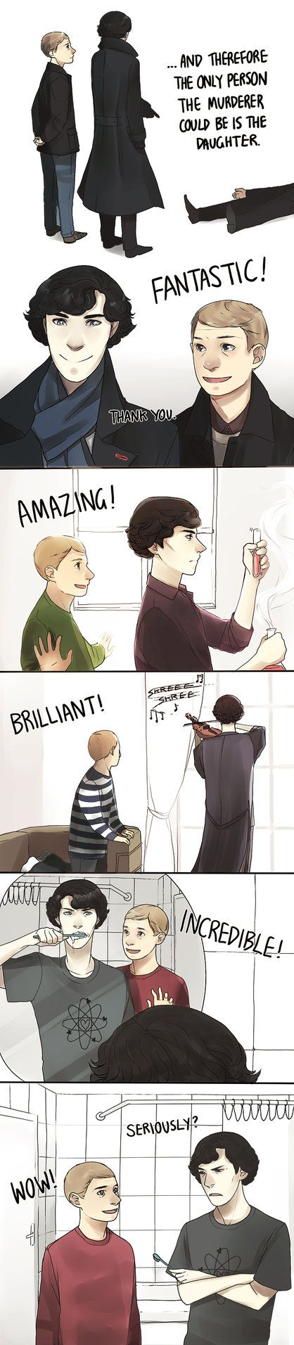 "Now John's just being facetious... - ""BBC Sherlock- OMG"" by y0do"