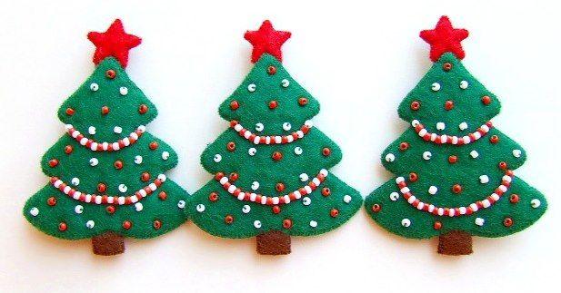felt christmas ornament