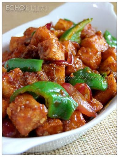 A taste of memories -- Echo's Kitchen: Chilli Paneer (Sweet And Sour Cottage Cheese)