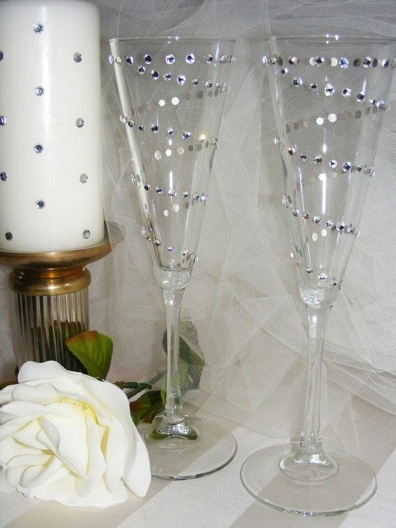 becky weber has carrie underwood inspired wedding champagne toasting flutes oooh sparkles