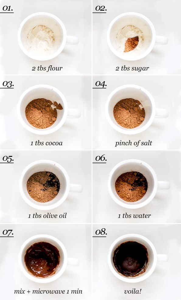 Maiko Nagao - diy, craft, fashion + design blog: Super easy microwave brownie in a cup recipe