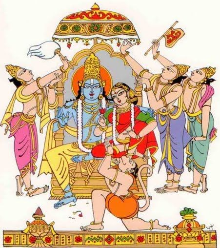 Bapu Sri RAma Navami drawing