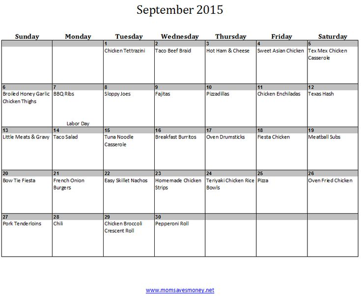 Weekly Recipe Calendar : Ideas about monthly meal planning on pinterest
