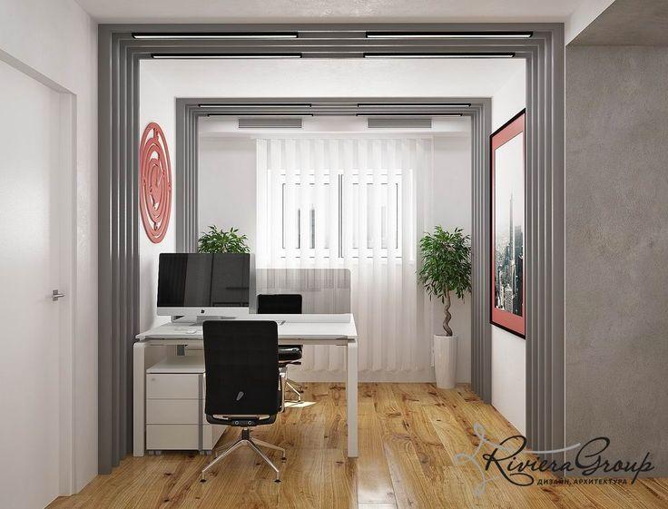 Портфолио: «Бетон» - дизайн офиса в стиле хай тек