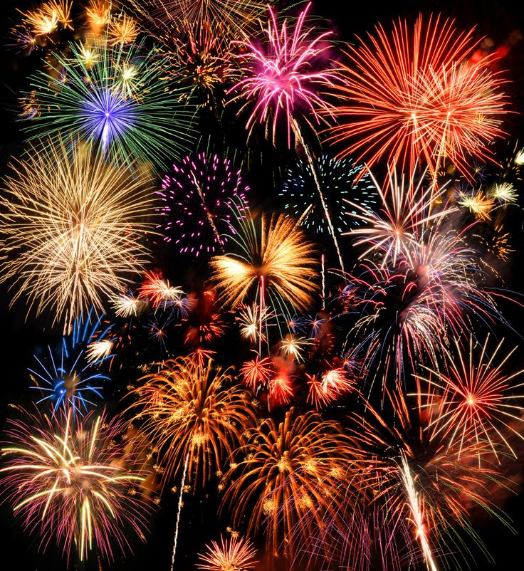 The color produced by the fireworks depend on minerals and chemicals and of course...magic.