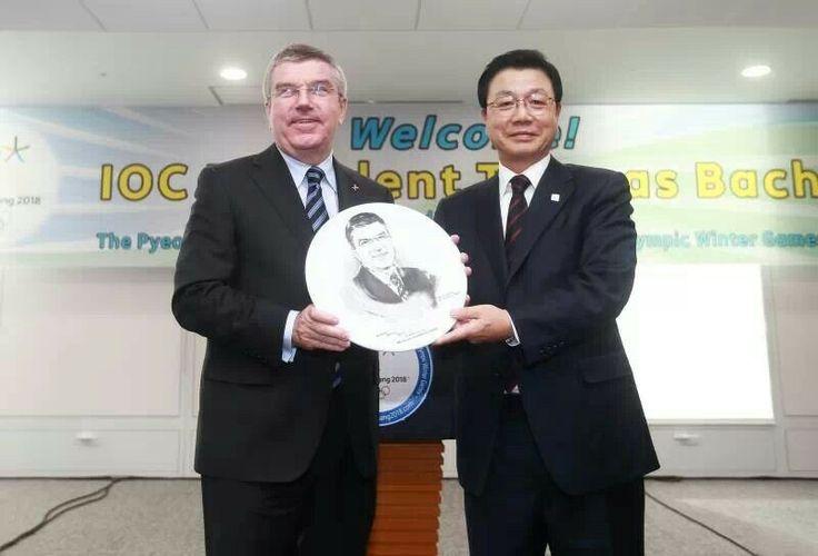 2013년 11월 21일, 토마스 바흐 IOC위원장의 2018평창동계올림픽조직위원회 방문