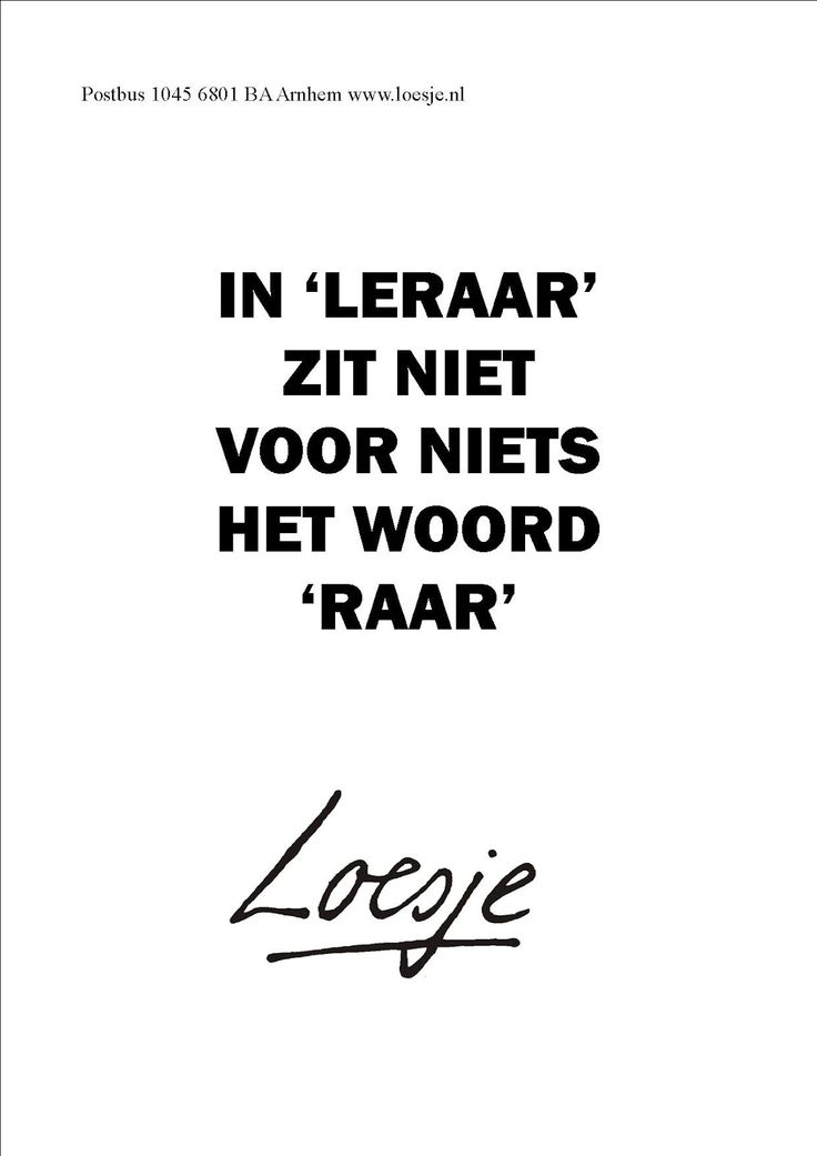 Image result for loesje docent mail