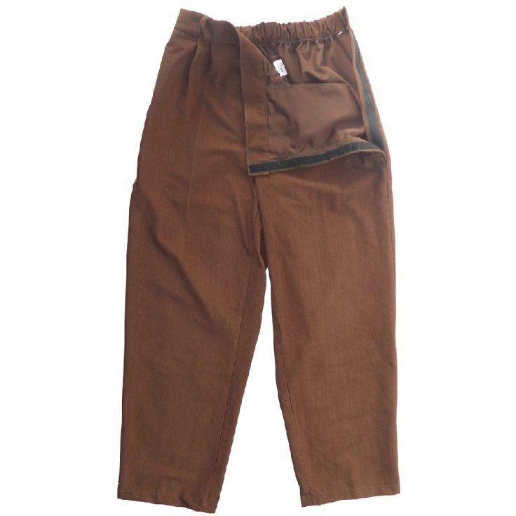 Pantalón de vestir adaptado velcro laterales hombre. INVIERNO. Pantalón de pinzas con bolsillos, velcro en los laterales y goma en la cintura. Tejidos en pana.