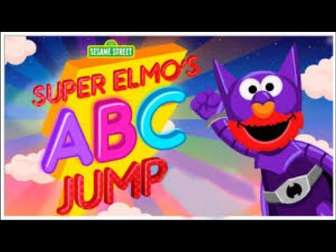 Sesame Street Super Elmo| ABC Jump Games for kids|Action Alphabet Games