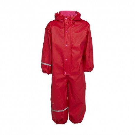 Rainsuit One piece without lining, red, Celavi