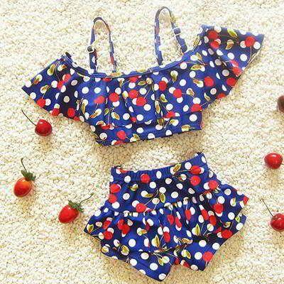 JRK Kids Cherry Child Swimwear Sapphire Blue | pinknee.com
