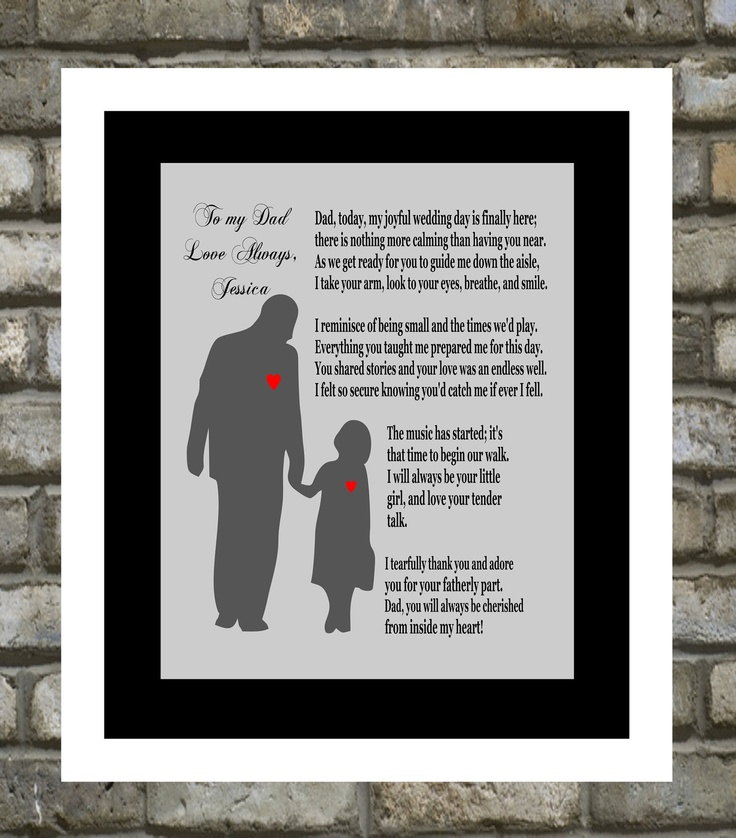 1 Wedding Gift For Dad Personalized Father Of The Bride