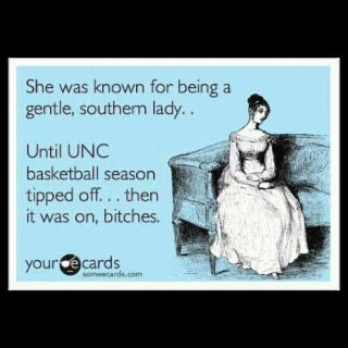 "TARHEELS!!! *This could also be read as ""football season"". Either way, it still applies."