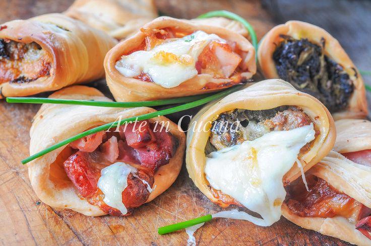 Sfogliatelle ricce salate ripiene ricetta napoletana vickyart arte in cucina