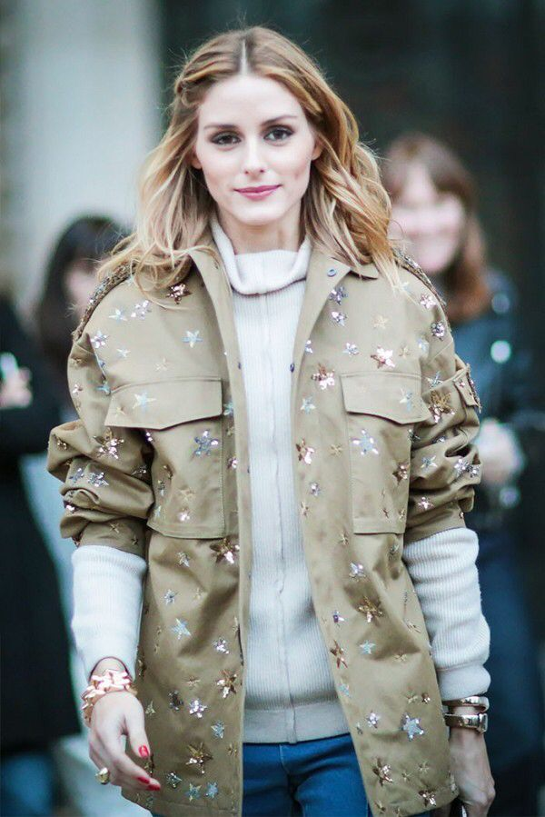 Layering the right way...turtle neck and jacket in nude colors...Olivia Palermo...love her style