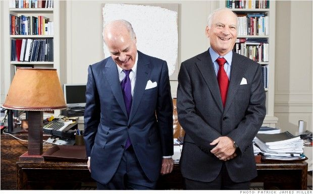 A dynamic dealmaking duo - Henry Kravis & George Roberts of KKR