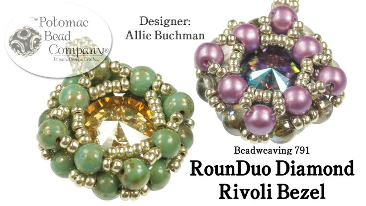 "This video tutorial from The Potomac Bead Company teaches you how to make co-founder Allie Buchman's ""RounDuo Diamond Rivoli Bezel"" design, usingRounDuo bead..."