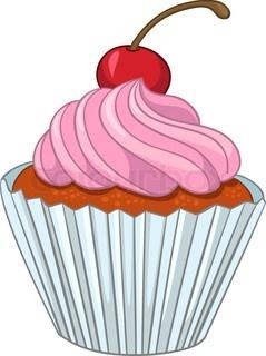 Cartoon Food Sweet Cupcake