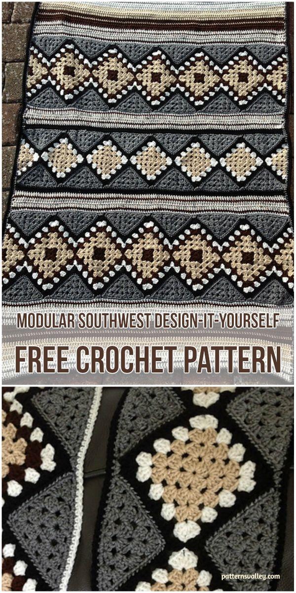 Modular SouthWest Design-it-Yourself [Free Crochet Pattern] #crochet #freepattern #crochetlove
