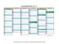 calendrier 2017 et 2018 vierge