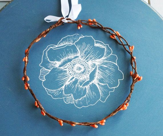 Posie's Pretties.  coral pip and braided branch by PosieMeadows