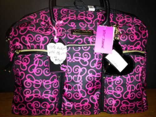 Betsey Johnson Luggage Bag This May Be Converted To A Diaper