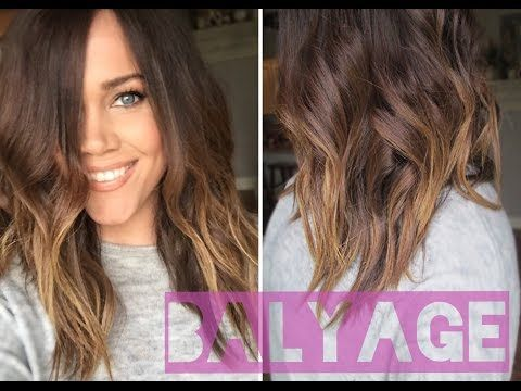 How to Balyage Highlight Your Hair at Home! - YouTube